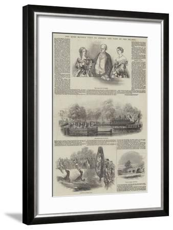 The Lord Mayor's Visit to Oxford, and View of the Thames--Framed Giclee Print