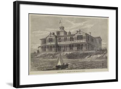 Marine Villa for the King of the Belgians at Ostend--Framed Giclee Print