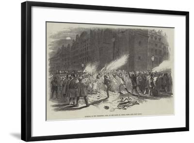 Burning of the Electoral Lists, at the Porte St Denis, Paris--Framed Giclee Print