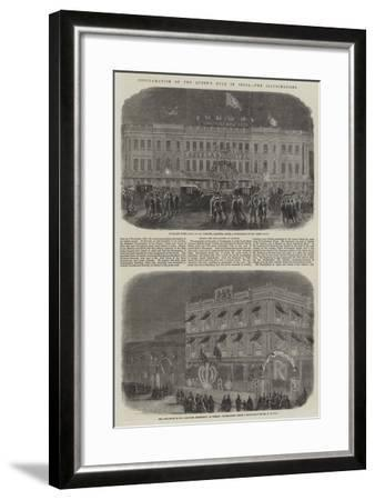 Proclamation of the Queen's Rule in India, the Illuminations--Framed Giclee Print