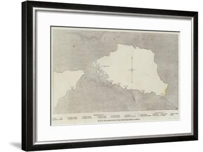 Plan of the Destruction of the Turkish Squadron, at Sinope--Framed Giclee Print