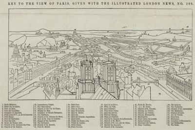 View of Paris, Given with the Illustrated London News--Framed Giclee Print