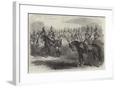Her Majesty's Visit to Paris, the Imperial Cent Gardes--Framed Giclee Print