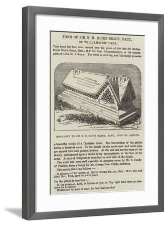 Tomb of Sir M H Hicks Beach, Baronet, of Williamstrip Park--Framed Giclee Print