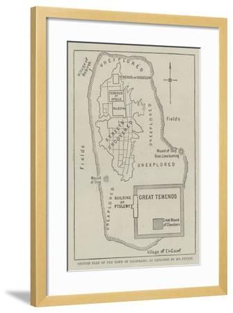 Ground Plan of the Town of Naukratis, as Explored by Mr Petrie--Framed Giclee Print