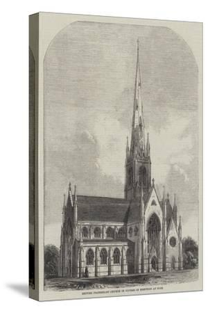 British Protestant Church in Course of Erection at Nice--Stretched Canvas Print