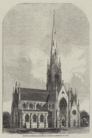 British Protestant Church in Course of Erection at Nice--Premium Giclee Print