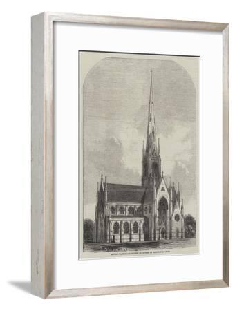 British Protestant Church in Course of Erection at Nice--Framed Giclee Print