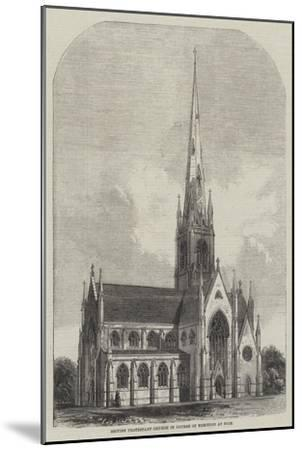 British Protestant Church in Course of Erection at Nice--Mounted Giclee Print