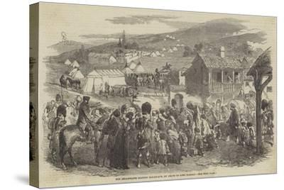 The Inhabitants Leaving Balaclava, by Order of Lord Raglan--Stretched Canvas Print