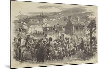 The Inhabitants Leaving Balaclava, by Order of Lord Raglan--Mounted Giclee Print