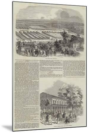Great Meeting of the Royal Agricultural Society at Southampton--Mounted Giclee Print
