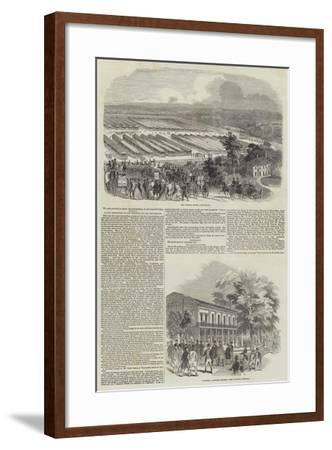 Great Meeting of the Royal Agricultural Society at Southampton--Framed Giclee Print