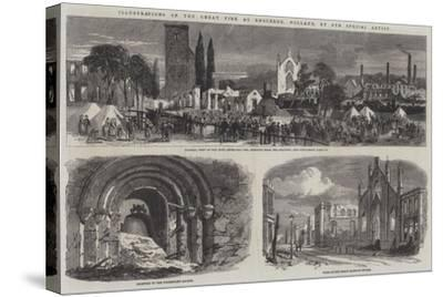 Illustrations of the Great Fire at Enschede, Holland--Stretched Canvas Print