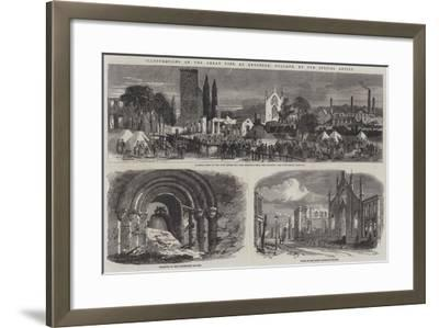 Illustrations of the Great Fire at Enschede, Holland--Framed Giclee Print