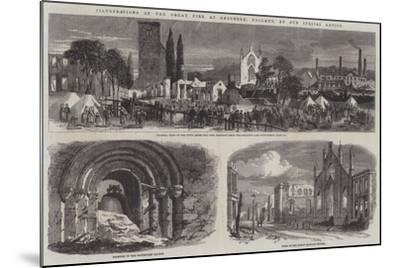 Illustrations of the Great Fire at Enschede, Holland--Mounted Giclee Print