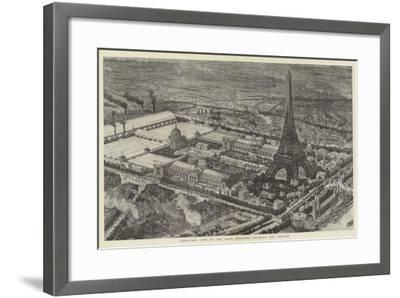 Bird's-Eye View of the Paris Exhibition Buildings and Grounds--Framed Giclee Print