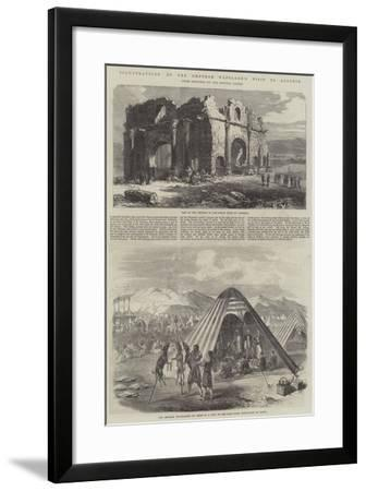 Illustrations of the Emperor Napoleon's Visit to Algeria--Framed Giclee Print