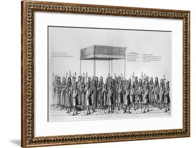Procession for the Coronation of James II of England--Framed Giclee Print