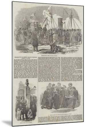 Embarkation of French Troops in English Vessels, at Calais--Mounted Giclee Print