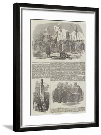 Embarkation of French Troops in English Vessels, at Calais--Framed Giclee Print