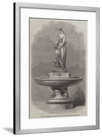 New Drinking-Fountain in Front of the Royal Exchange--Framed Giclee Print