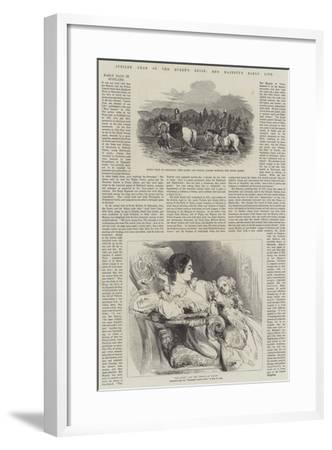 Jubilee Year of the Queen's Reign, Her Majesty's Early Life--Framed Giclee Print