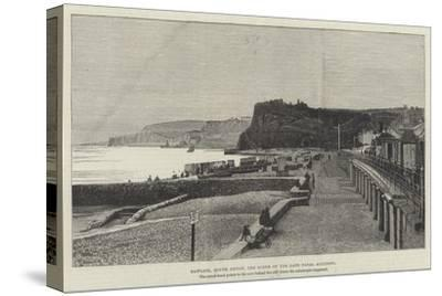 Dawlish, South Devon, the Scene of the Late Fatal Accident--Stretched Canvas Print