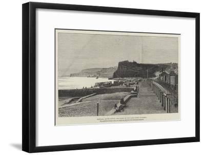 Dawlish, South Devon, the Scene of the Late Fatal Accident--Framed Giclee Print