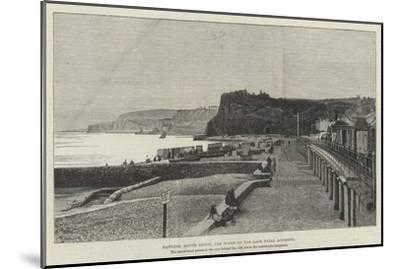 Dawlish, South Devon, the Scene of the Late Fatal Accident--Mounted Giclee Print