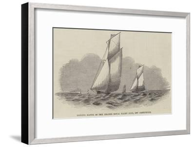 Sailing Match of the Thames Royal Yacht Club, Off Greenwich--Framed Giclee Print