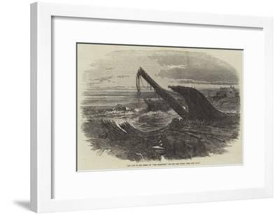 The Last of the Wreck of The Charlotte, Off the Cape Coast--Framed Giclee Print