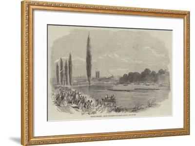 Henley Regatta, Grand Challenge Cup Match, London and Oxford--Framed Giclee Print