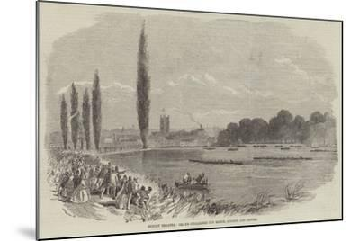 Henley Regatta, Grand Challenge Cup Match, London and Oxford--Mounted Giclee Print