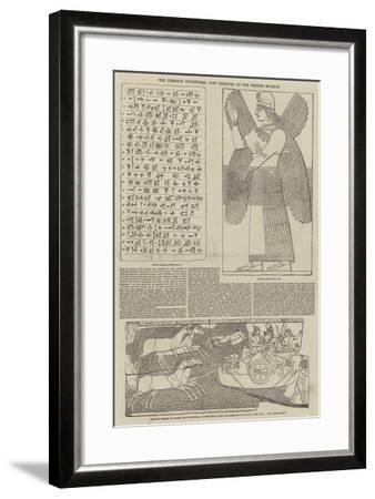 The Nimroud Sculptures, Just Received at the British Museum--Framed Giclee Print