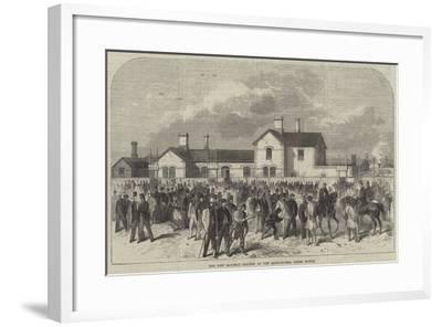 The New Railway Station at the Race-Course, Epsom Downs--Framed Giclee Print
