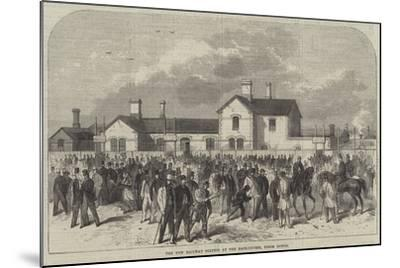 The New Railway Station at the Race-Course, Epsom Downs--Mounted Giclee Print