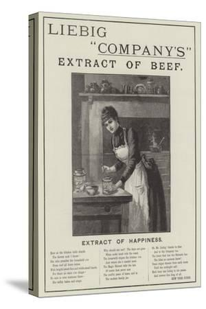 Advertisement, Liebig Company's Extract of Beef--Stretched Canvas Print