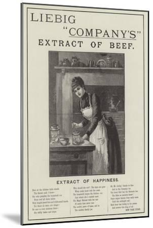 Advertisement, Liebig Company's Extract of Beef--Mounted Giclee Print