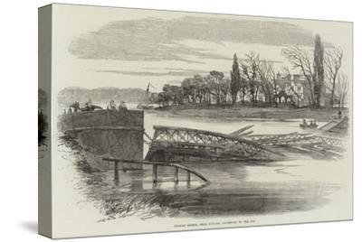 Kelham Bridge, Near Newark, Destroyed by the Ice--Stretched Canvas Print
