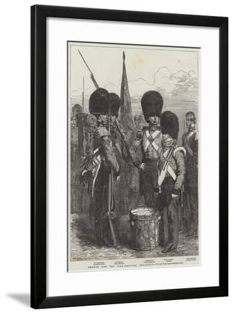 Troops for the War, British Infantry, Guards--Framed Giclee Print