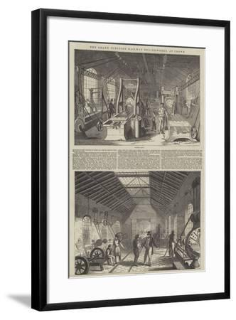 The Grand Junction Railway Engine-Works, at Crewe--Framed Giclee Print