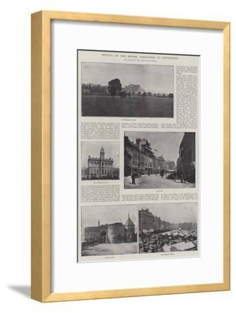 Meeting of the British Association at Nottingham--Framed Giclee Print