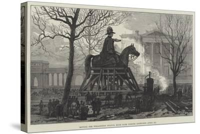 Moving the Wellington Statue, Hyde Park Corner--Stretched Canvas Print