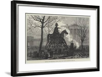 Moving the Wellington Statue, Hyde Park Corner--Framed Giclee Print