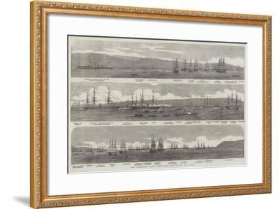 The Transport Fleet Embarking the Troops, at Varna--Framed Giclee Print
