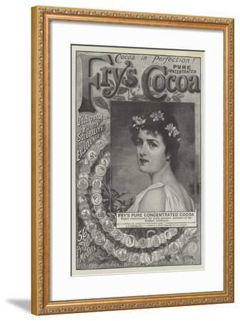 Advertisement, Fry's Pure Concentrated Cocoa--Framed Giclee Print