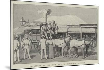 Departure of the Mail at Cue, Murchison District--Mounted Giclee Print
