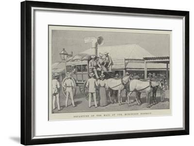 Departure of the Mail at Cue, Murchison District--Framed Giclee Print