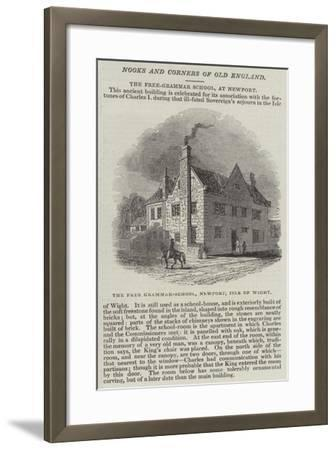 The Free Grammar-School, Newport, Isle of Wight--Framed Giclee Print